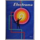 "Original Vintage French OVERSIZE 4 PARTS Poster for ""Electrama"" by Villemot 1959"