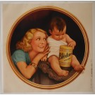 """Original Vintage French OVERSIZE 2 PARTS Before Letters Poster for """"Bledine Jacquemaire"""" Baby Cereals 1933"""