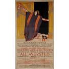 "Original Vintage Italian OVERSIZE Poster for ""ALL' AVGVSTEO"" Concert Opera"