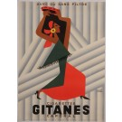 "Original Vintage French Poster Advertising ""Gitanes"" Cigarettes by Herve Morvan"