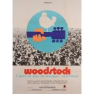 "Original Vintage French Movie Poster Advertising ""Woodstock"" Music Festival 1969"
