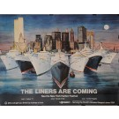 "Original Vintage Poster for ""The Liners Are Coming"" NY Harbor Festival 1977"