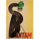 Original Vintage Italian Art Deco Poster Advertising Bantam Hats by G. Boccasile