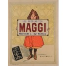 "Original Vintage French Poster for the Cacao drink ""Maggi"" by Firmin Bouisset"
