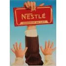 "Original Vintage Swiss Poster Advertising ""Nestle Chocolat"" by Artigas 1950's"