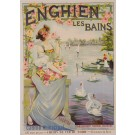 "Original Vintage French Poster Advertising ""Enghien les Bains"" by R. Tournon"