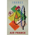 "Original Vintage French Poster for ""Air France"" Advertising France by Carlu"