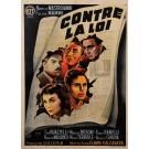 """Original Vintage French Movie Poster for """"Contre La Loi"""" d'Apres Ballester"""