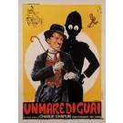 "Original Vintage Italian Poster for ""UN MARE DI GUAI"" Charlie Chaplin Signed 1960's"