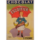 """Original Vintage French Poster for """"Chocolat Escoffier"""" by T. Coulet ca. 1900"""