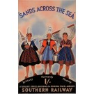 "Original Vintage British Poster for ""Southern Railway - Sands Across the Sea"""