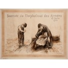"Original Vintage French Poster for ""Journee de l'orphelinat des Armees"" 1915"