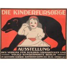 "Original Vintage German Poster for ""Die Kinderfürsorge"" by Börmel Berlin ca.1900"