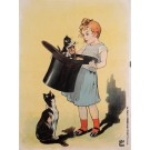 Original Vintage French Children & Cats BEFORE LETTERS Poster by OGE 1917