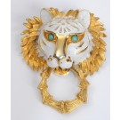 Vintage Pauline Rader Gold-tone Lion Head Pin Brooch Pendant