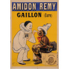 "Original Vintage French Poster ""Amidon Remy"" Washing Machine Cleaner Soap by Oge"