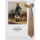 French Magazine Print for Hermes Cravates 1961