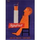 "Original French Poster Advertising ""Jus de fruits Sojufruit"" by Savignac 1955"