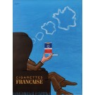 "Original Vintage French Poster for ""Cigarettes Francaise"" by Savignac 1965"