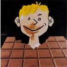 "Original Vintage French Poster for Chocolate ""Tobler"" BEFORE LETTERS by Savignac 1951"