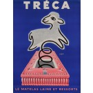 "Original Vintage French Poster for ""Treca"" Spring Mattreses by Savignac 1952"