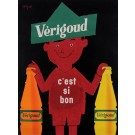 "Original Vintage French Poster for ""Verigoud"" Soft Drink by Savignac 1957"