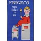 "Original Vintage French Poster for ""Frigeco"" Refrigerators by Savignac 1957"