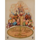 "Original Vintage French Poster ""Blanch Neige"" Walt Disney ca. 1937"