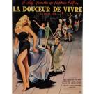 "Original Vintage French Movie Poster for ""La Dolce Vita"" Fellini Signed 1960"