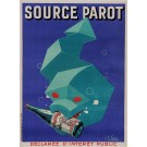 "Original Vintage French Art Deco Poster for ""Source Parot"" by Favre ca. 1930"