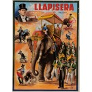 "Original Vintage Spanish Poster for ""Llapisera"" Chansons by Dousat 1930's"