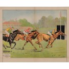 Original Vintage French Poster for Horse Racing by E. Helsey ca. 1940