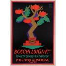 "Original Vintage Italian Poster ""Boschi Luigi & F.GLI"" Tomaten by Carboni 1926"