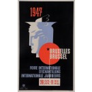 "Original Vintage Belgian Poster for ""Bruxelles Foire Internationale 1947"""