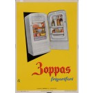 "Original Vintage Italian Alcohol Poster for ""Boppas Frigoriferi"" Refrigerators by Sabi 1955"