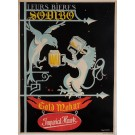 "Original Vintage French Poster for ""Gold Mohur Imperial Hawk"" Beer by Le Maire"
