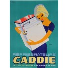 "Original Vintage French Poster for ""Refrigerateurs CADDIE"" by J. Prigent 1960's"