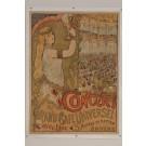 """Original Vintage Belgian Poster for """"CONCERT DU GRAND CAFÉ UNIVERSEL"""" by Marci"""