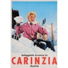 "Original Vintage Austrian Travel Poster for ""CARINZIA"" Ski Resort 1980's"