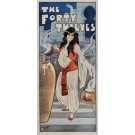 "Original Vintage British Theater Poster for ""The Forty Thieves"" ca. 1920 - SOLD AS IS!"