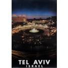 "Original Vintage Israeli Poster ""Tel Aviv"" 1960's-70's"