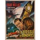 """Original Vintage French Movie Poster for """"LE BOSSU DE LONDRES"""" by CASARO 1966"""