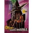 "Original Vintage French Movie Poster ""ORLOFF ET L'HOMME INVISIBLE"" by BELINSKY 1970"
