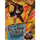 "Original Vintage Spanish Movie Poster for ""EL GRAN GORILA (Mighty Joe Young)"" 1949"