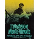 "Original Vintage French Movie Poster for ""L'INVASION DES MORTS - VIVANTS (The Plague of the Zombies)"" 1970's"