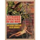 """Original Vintage French Movie Poster for """"L'ÉTRANGE CRÉATURE DU LAC NOIR"""" D'APRÈS REYNOLD BROWN 1962"""