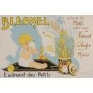 "Original Vintage French Children Food Poster for ""Bleomel"" Honey 1933"