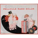 "Original Vintage Italian Children Poster ""Guilleminot Radio Eclair"" by Mauzan"
