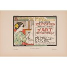 """Les Affiches Etrangeres """"Expo Art"""" Stone Lithograph by Donnay - 1896"""