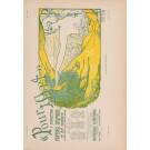 "Les Affiches Etrangeres ""Pour L 'Art- Green/Yellow"" Stone Lithograph by Henri Ottevaere 1897"